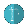 Crane hook construction machine blue circle shadow Royalty Free Stock Photo