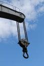 Crane jib the lifting chain of a heavy duty Stock Photo