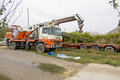 Crane a mobile at a construction site Stock Photography