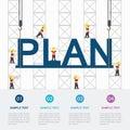 Crane and plan building.