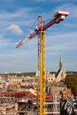 Crane and scaffolding Royalty Free Stock Photography
