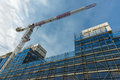 Crane and Scaffolding on a new building Royalty Free Stock Photo