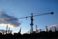Crane silhouette Stock Images
