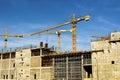 Crane sky p beautiful view of yellow big blue Royalty Free Stock Photo