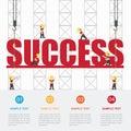 Crane and success building.