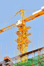 Crane tower background blue sky Royalty Free Stock Photography