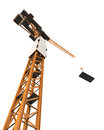 Crane tower isolated on white background d render Royalty Free Stock Images