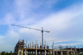Crane are working for building Stock Image