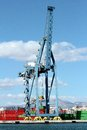 Crane working port alicante spain Royalty Free Stock Image