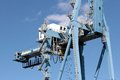 Crane working port alicante spain Stock Photography