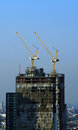 Cranes construction site bangkok thailand Royalty Free Stock Images