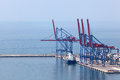 Cranes in container terminal Royalty Free Stock Photography