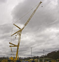 Cranes heavy lift mobile leyland lancashire uk Stock Images