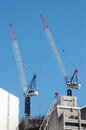 Cranes at work Royalty Free Stock Photo
