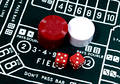Craps Table Royalty Free Stock Photo
