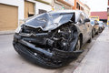 Crash car valencia spain august a parked on the street waiting for repair a study by k rumar found that of crashes were due Royalty Free Stock Image