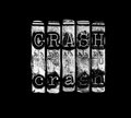 Crash concept stock market or Royalty Free Stock Photos