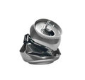 Crashed beer can Royalty Free Stock Photography