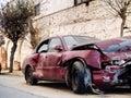 Crashed car Stock Photos