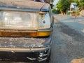 Crashed old car Royalty Free Stock Photo