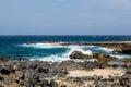 Crashing Surf on Black Coral Royalty Free Stock Photo