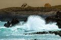Crashing waves. Royalty Free Stock Photo