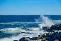 Crashing waves on a Rocky Shore Royalty Free Stock Photo