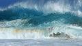 Crashing waves, Sandy beach, Hawaii Royalty Free Stock Photo