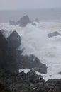 Crashing Waves In Storm