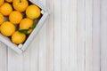 Crate of Lemons Royalty Free Stock Photo