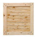 Crate top wood lid with copy space isolated on white background Stock Photography