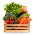Crate with vegetables Royalty Free Stock Images