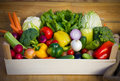 Crate with vegetables Royalty Free Stock Photo
