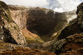 Crater of dormant Vesuvius volcano, Naples, Italy Royalty Free Stock Photo
