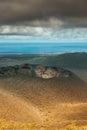 Crater of an extinct volcano in timanfaya national park lanzarote spain Stock Photos