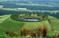 Crater lake at the Azores Royalty Free Stock Photography