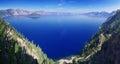 Crater Lake Panorama Royalty Free Stock Photo
