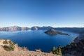 Crater Lake Panorama View at Fall Royalty Free Stock Photo