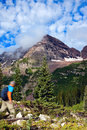 Crater Lake trail Royalty Free Stock Photo