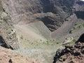 Crater of Mount Vesuvius Stock Photo
