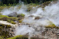 Craters of the Moon, Lake Taupo, New Zealand Royalty Free Stock Photo