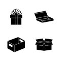 Crates. Simple Related Vector Icons