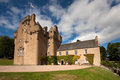 Crathes castle banchory aberdeenshire scotland near is a well preserved th century tower house built by the burnett family on land Stock Image