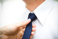 Cravat with a man s suit Stock Photography