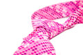 Cravat pink flyspecked on white background Royalty Free Stock Photos