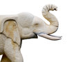 Craved sandstone elephant isolate on white background used for d Royalty Free Stock Photo