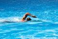 Crawl style swim Royalty Free Stock Photo
