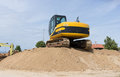 Crawler excavator construction machine used for digging Stock Image