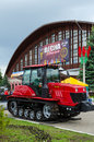 Crawler tractor belarus gomel may international exhibition fair spring in gomel in may in gomel Stock Photo