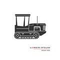 Crawler tractor icon